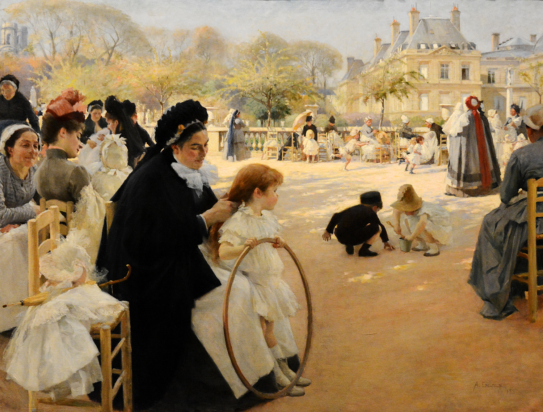 Albert Edelfelt,  The Luxembourg Gardens, Paris  (1887)
