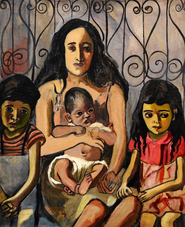 Alice Neel,  Spanish Family  (1943)