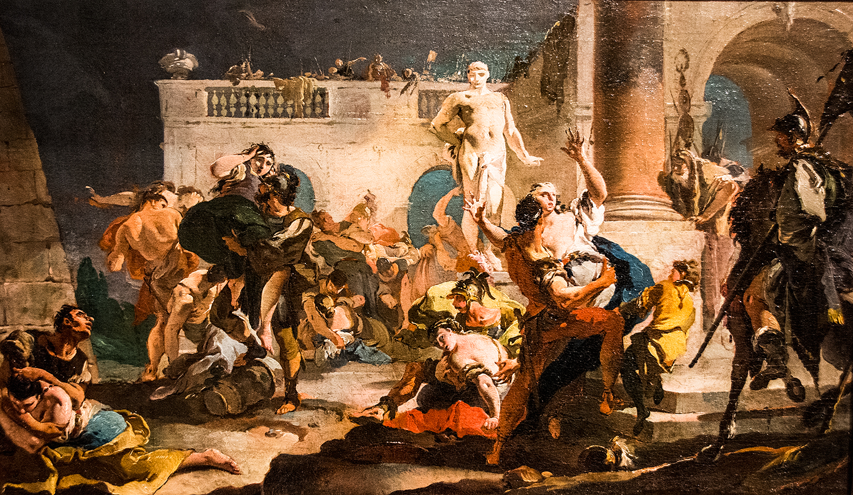 Giovanni Battista Tiepolo,  The Rape of the Sabine Women  (1718/19), Synebrichoffin Taidemuseo