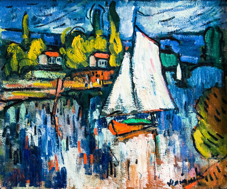 Maurice Vlaminck, View of the Seine (c 1906)