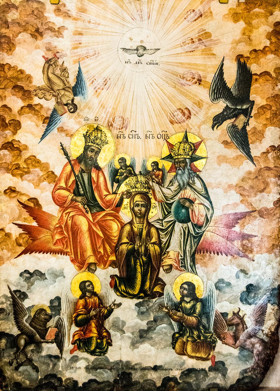 Nikifor Georgiev, The Coronation of the Virgin (1733)