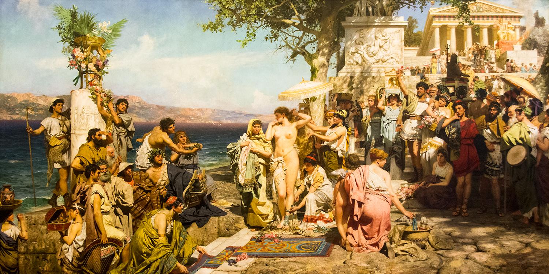 Henryk Siemiradzki, Phrine at the Festival of Poseidon at the Eleusinia (1889)