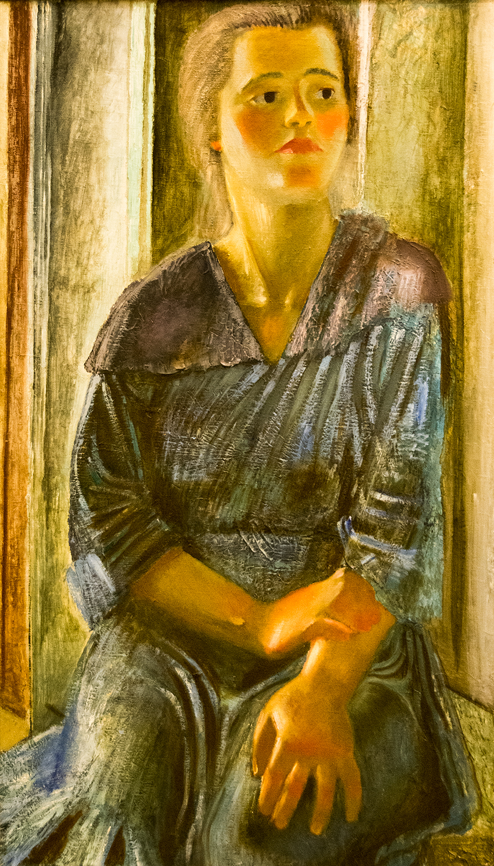 Alexei Pakhomov, Female Worker (Portrait in Blue), 1927