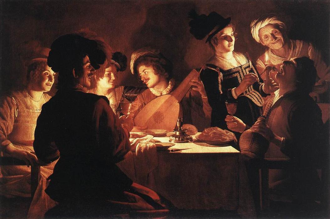 Gerrit Van Honthorst, Supper Party (1619)