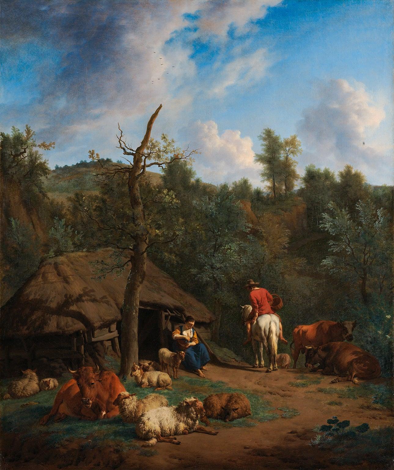 Adriaen van de Velde, The Hut (1671, Rijksmuseum, Amsterdam)
