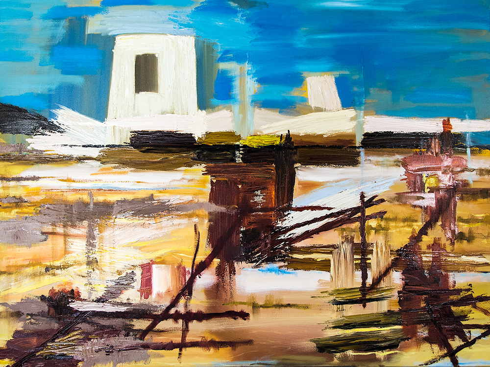 The Dénia series: The Tower, 120x90 cm, oil on canvas