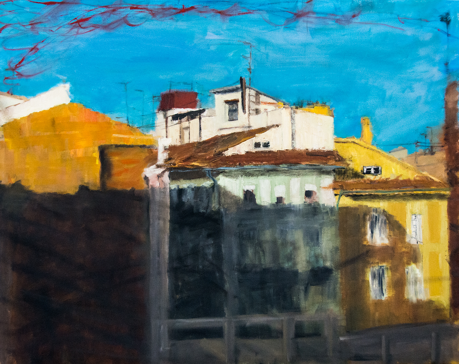 The Valencia series: The Old Town III, acrylic on canvas, 92x73cm