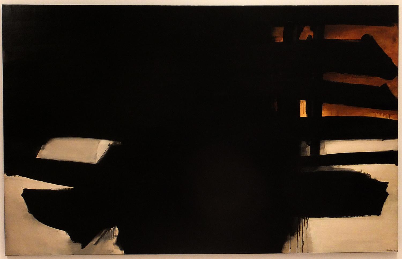 Pierre Soulages,  Peinture, 11 juillet 1965 , oil on canvas, 1965 (IVAM collection)
