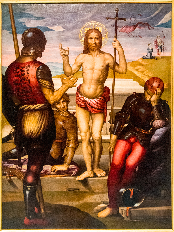 Fernando Yáñez de la Almedina (c 1475-1536),  Resurrection of Christ , oil on wood (Museu de Belles Arts de València)