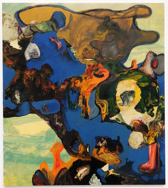Jorge Queiroz,  Le Cas de M , acrylic on canvas, 2015 (Fundació Per Amor a l'Art collection)