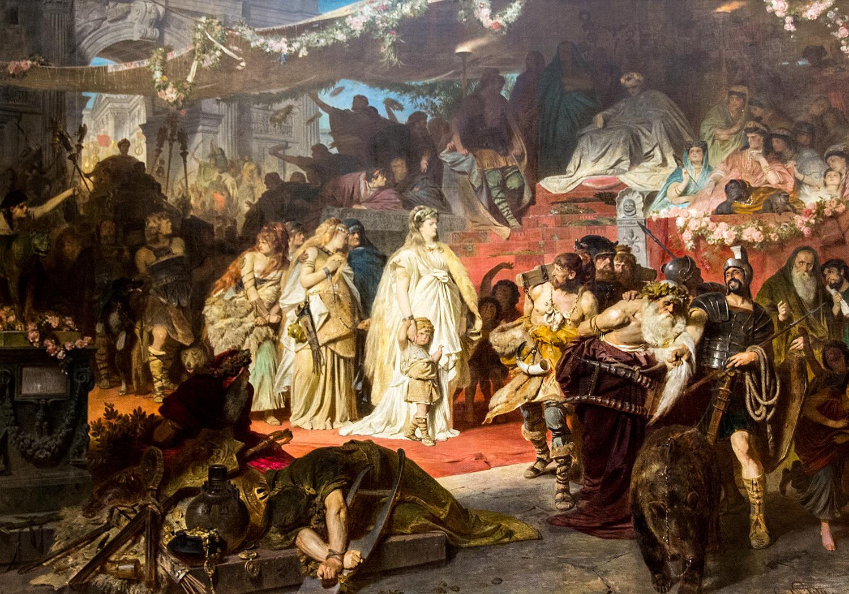 Carl Theodor von Piloty,  Thusnelda at the Triumph of Germanicus  (1874), Neue Pinakothek
