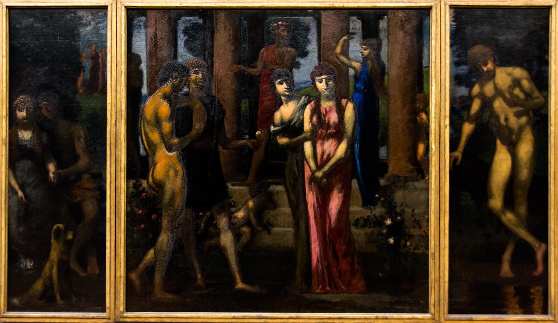 Hans von Marées,  Courtship  (c 1885), Neue Pinakothek