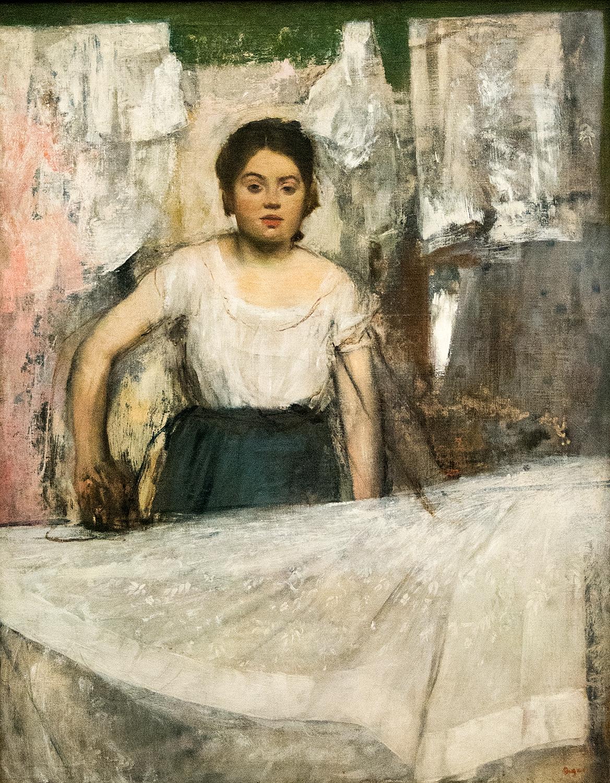 Edgar Degas,  Woman Ironing  (1869), Neue Pinakothek
