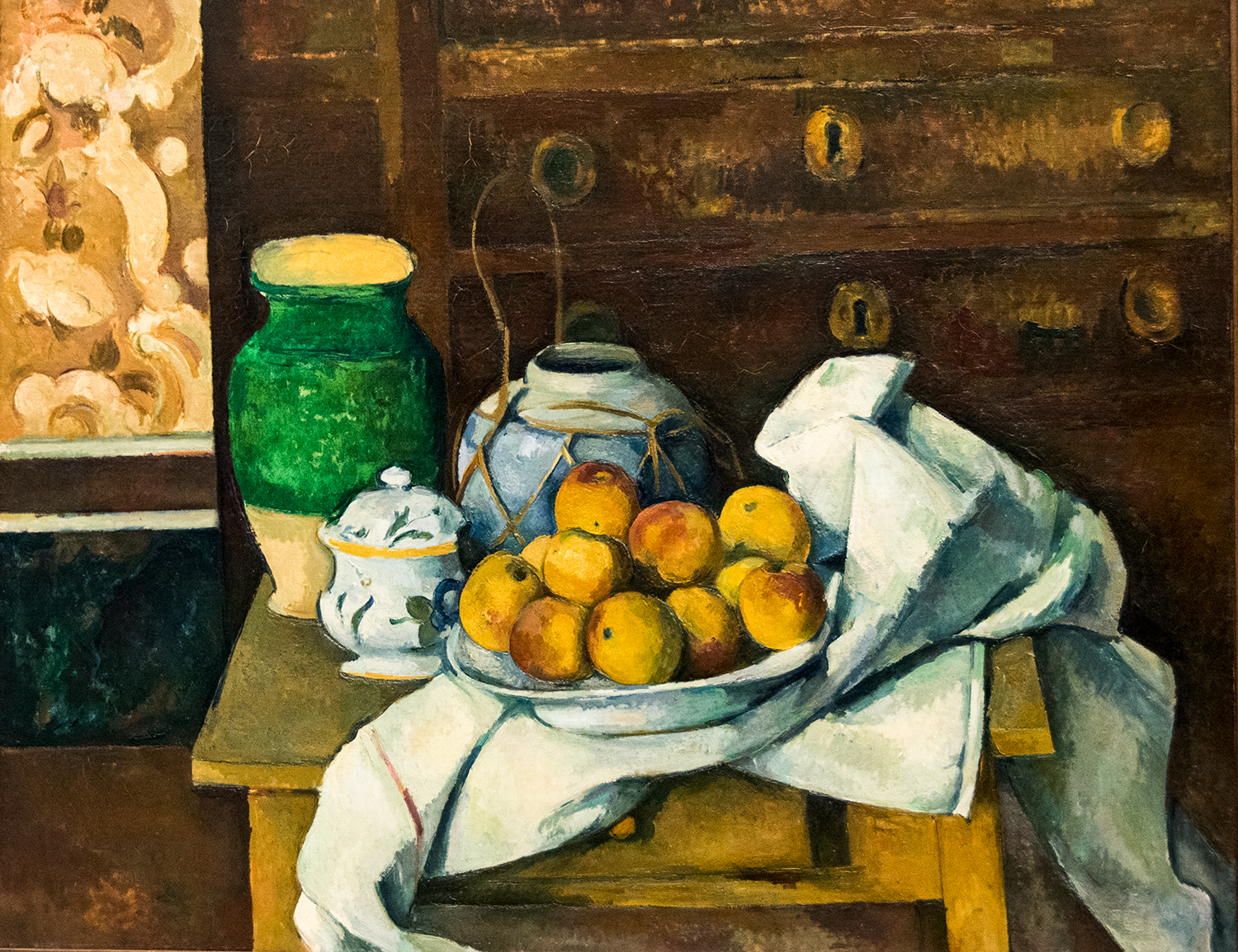 Paul Cézanne,  Still Life with Commode  (c 1887), Neue Pinakothek
