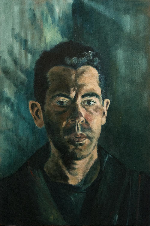 self-portrait, 75x50 cm,oil on canvas (preselected, BP Portrait Award 2016)
