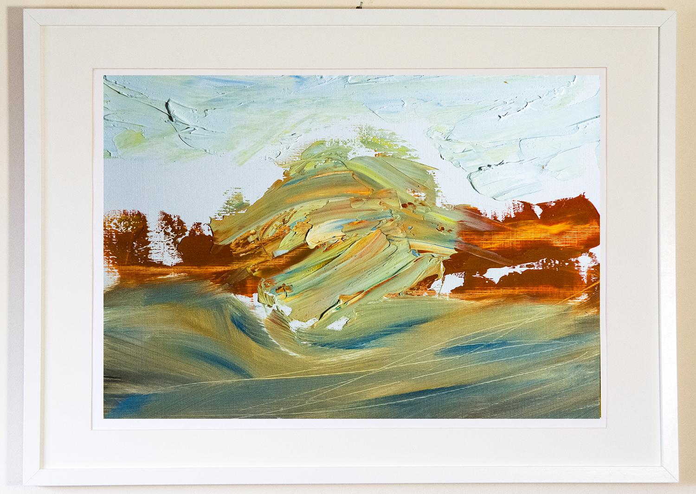 Nebula, oil and impasto medium on paper, 42x30 cm (2015)