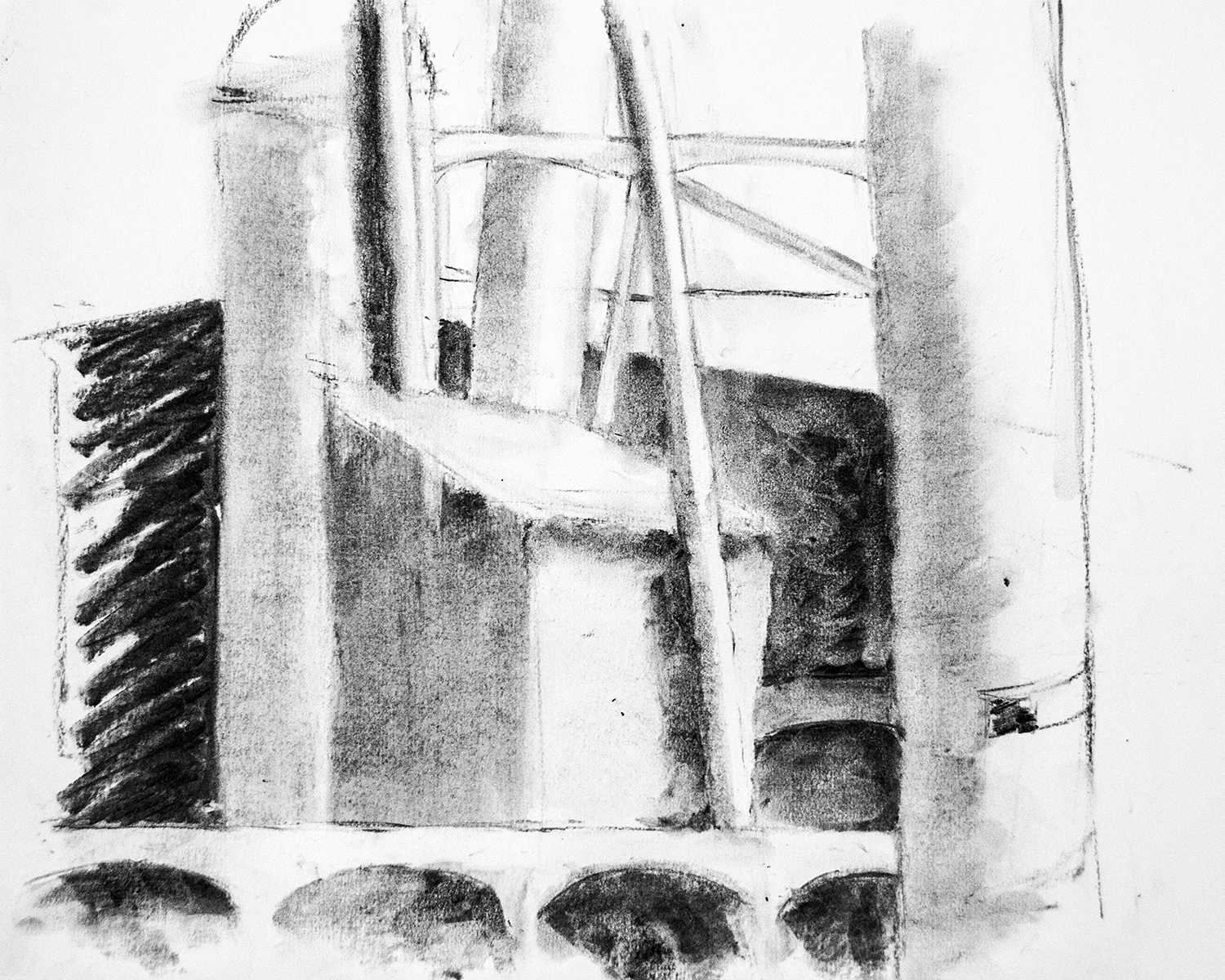 Charcoal study, from the Valencia series (2016)