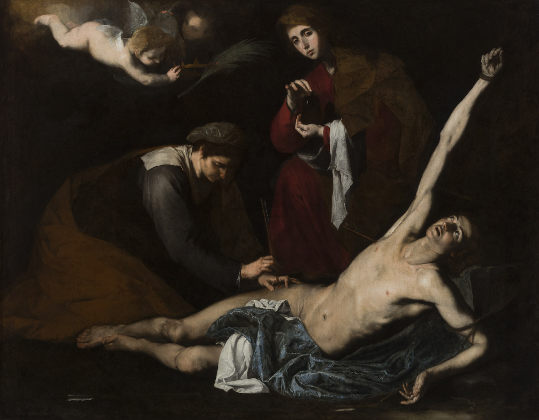 Ribera, St Sebastian tended by the Holy Women (1621), Bilbao Fine Art Museum