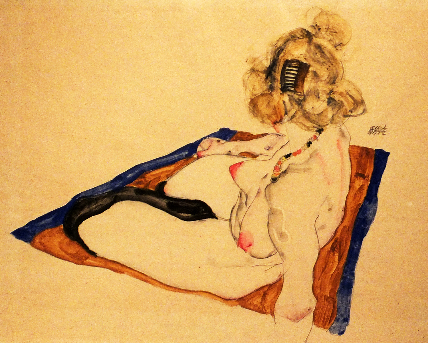 Egon Schiele, Seated Female Nude, 1912