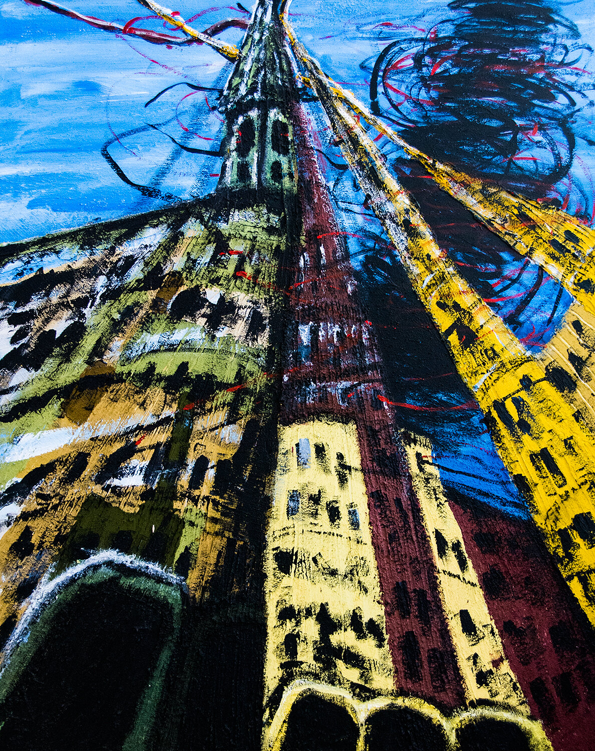 The Valencia series: Towers that Reach up to the Sky, acrylic on canvas, 92x73 cm