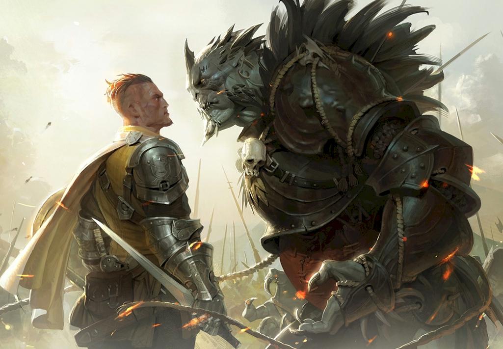 Young Miragrin faces the Orc Master, Drogur Vorn