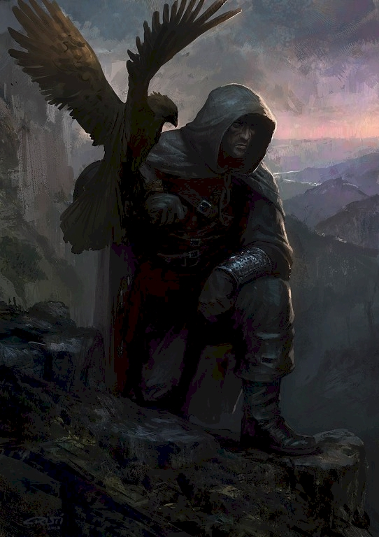 From Book Two: Ruin Thatch and his eagle companion Tiri Thoron