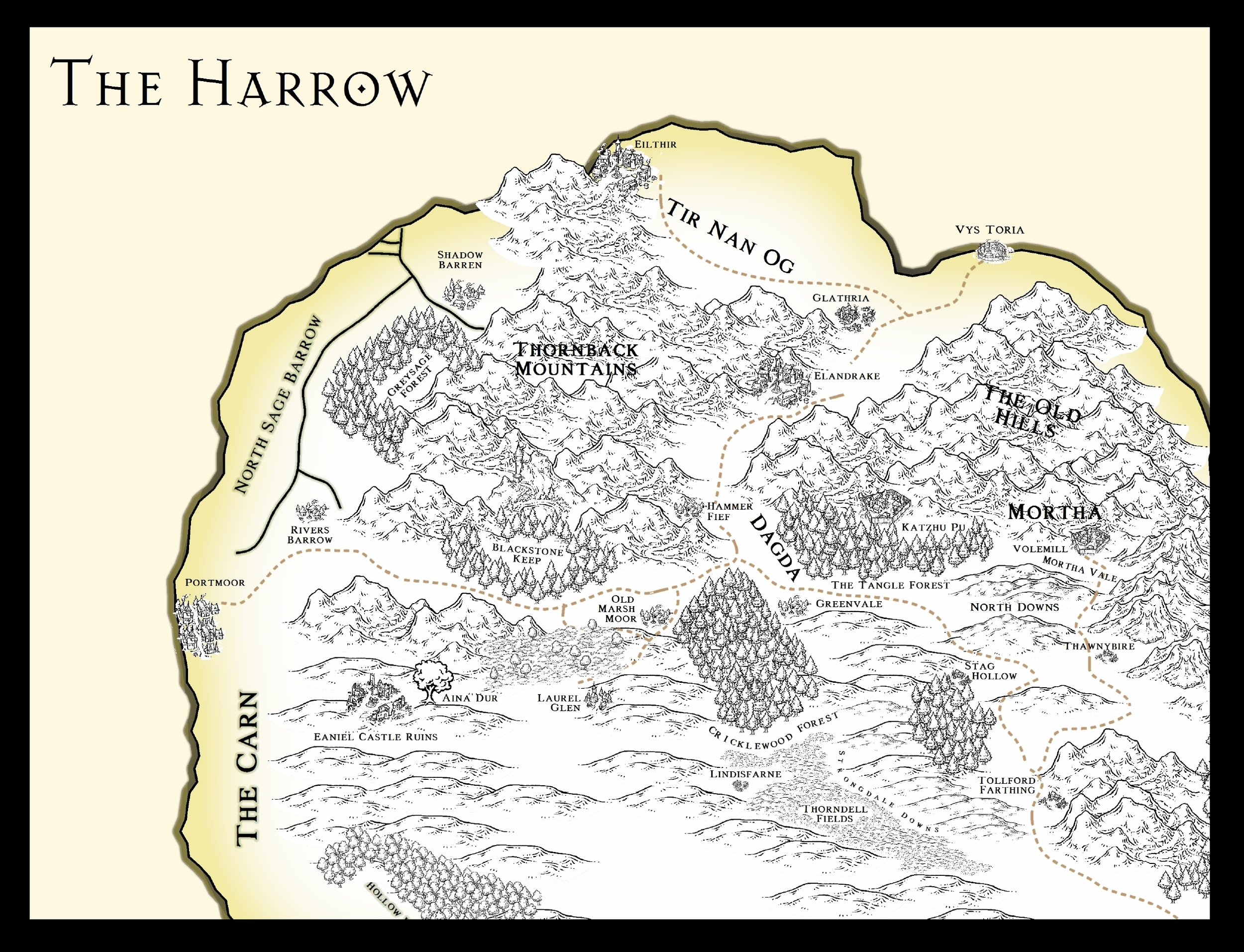 New Harrow Map. From Companion Book