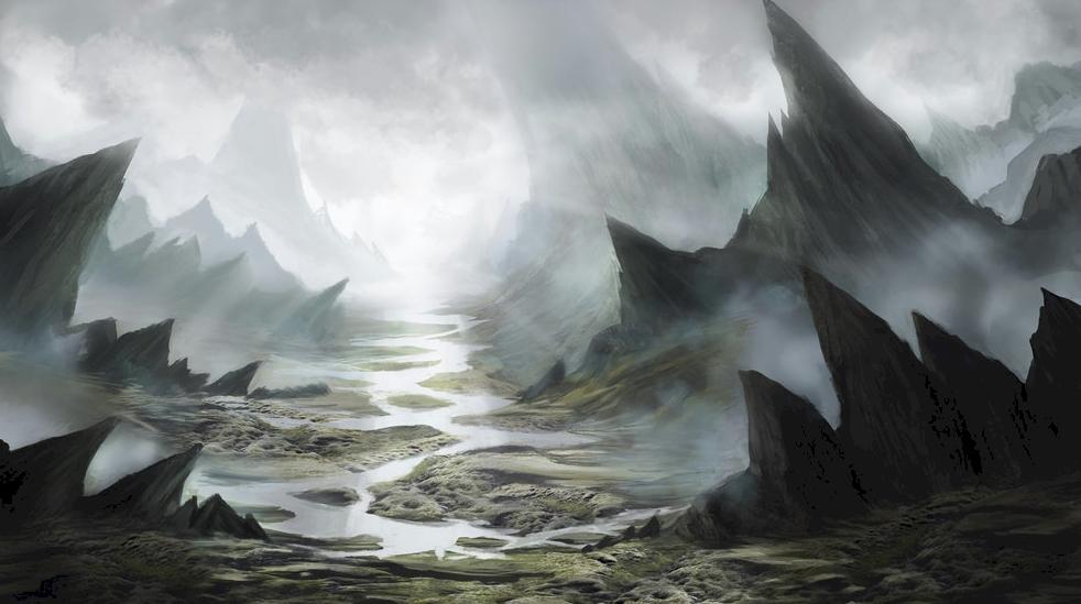 Entering the Crag