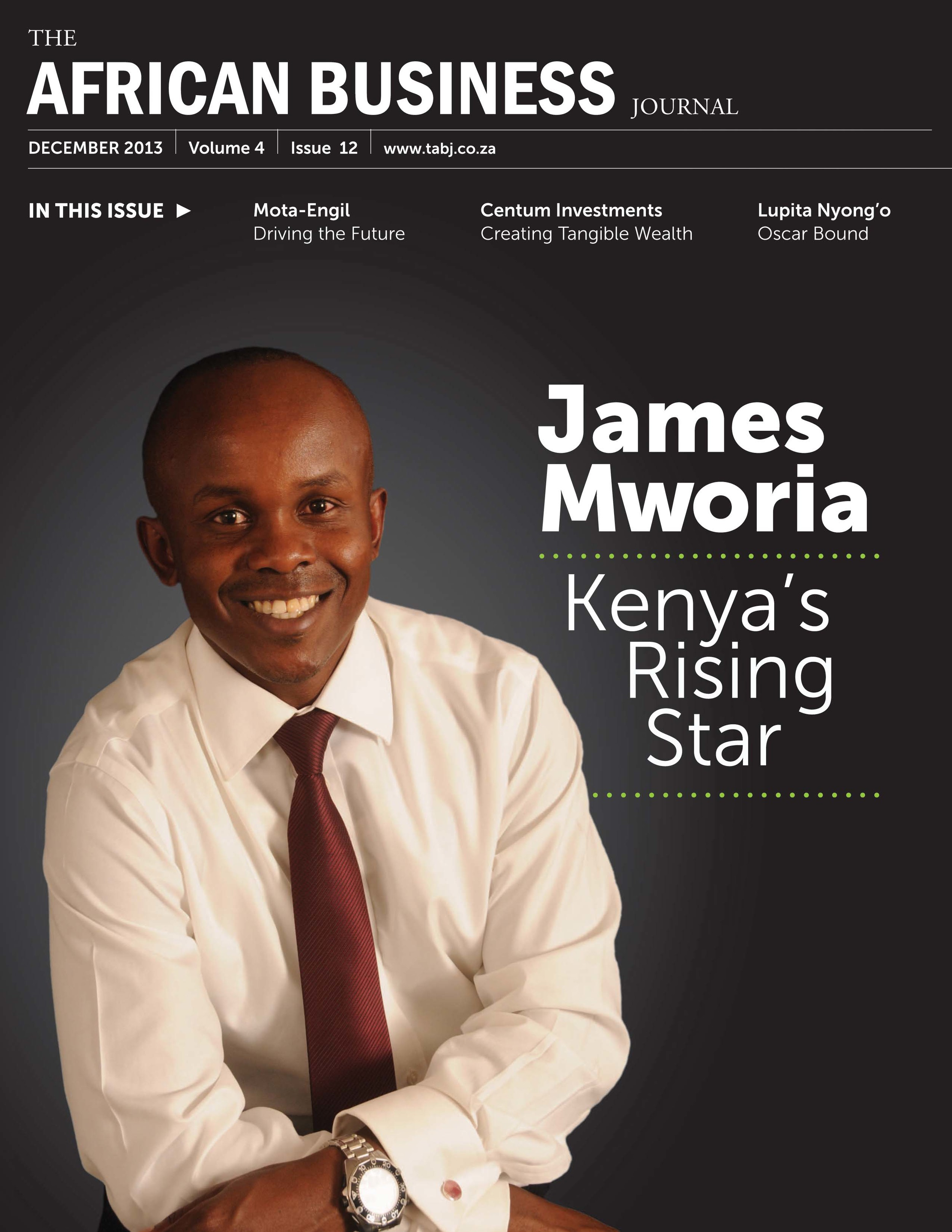James Mworia, CEO of Centum, the largest listed investment company in East Africa