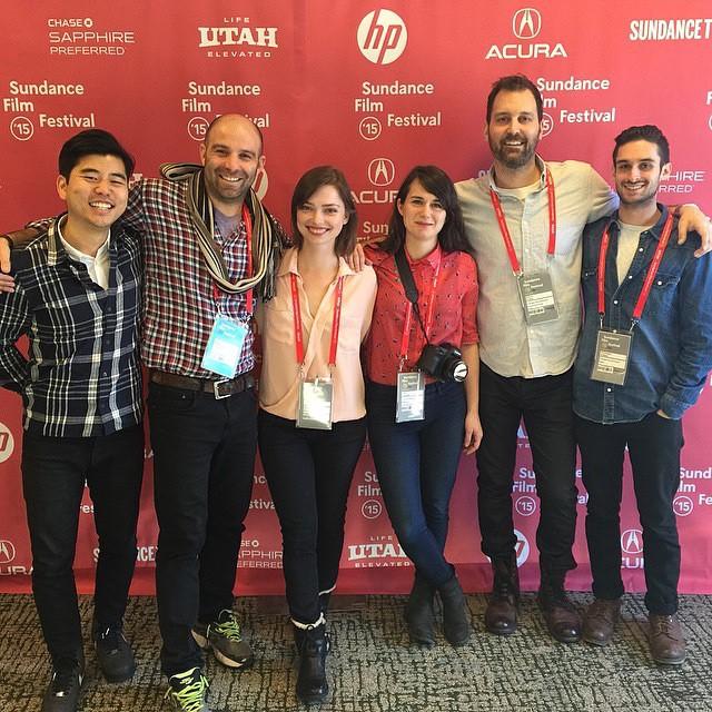 Topaz and team @Sundance premiering {TheAnd}. |0252015| @the_skindeep #sundance2015