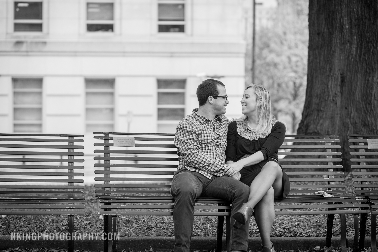 Downtown Raleigh Engagement Shoot at Capital Building