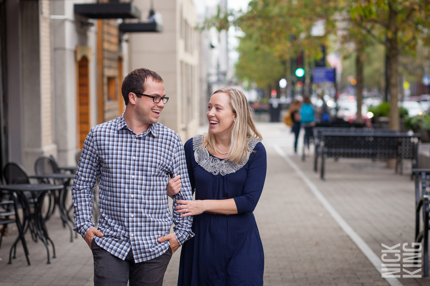 Downtown Raleigh Engagement Shoot Fayatville Street