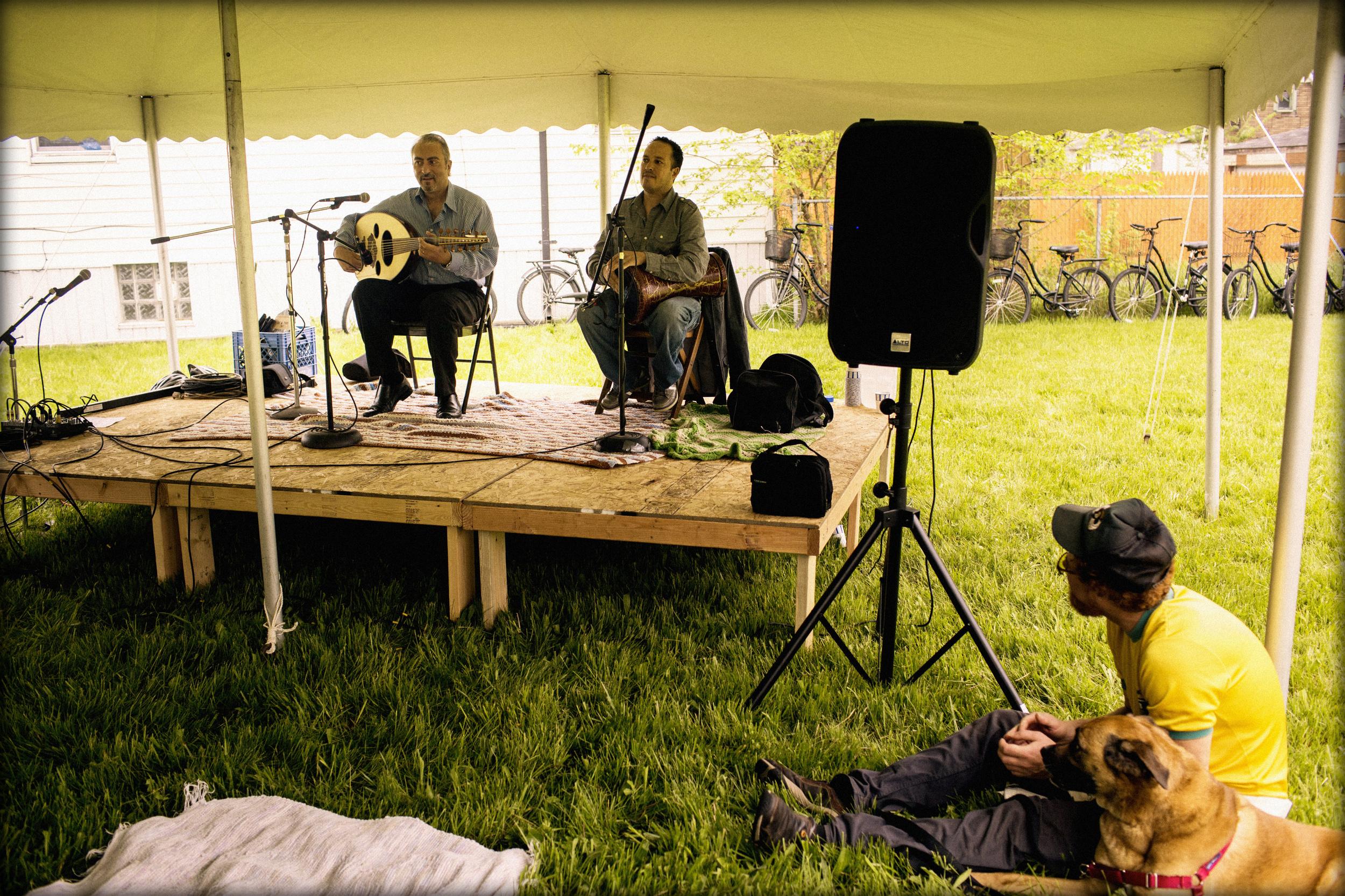 Victor Ghannam &Ons Boukraa - Detroit Folk Workshop Stage - Porous Borders Festival - May 2015 - Hamtramck, MI