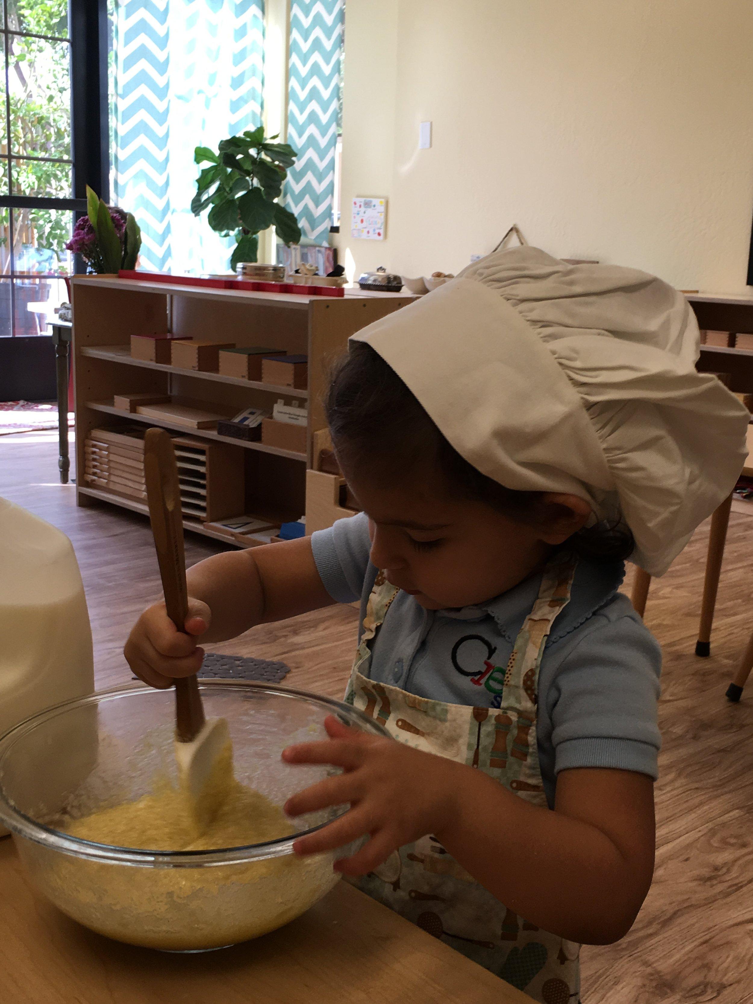 Baking muffins
