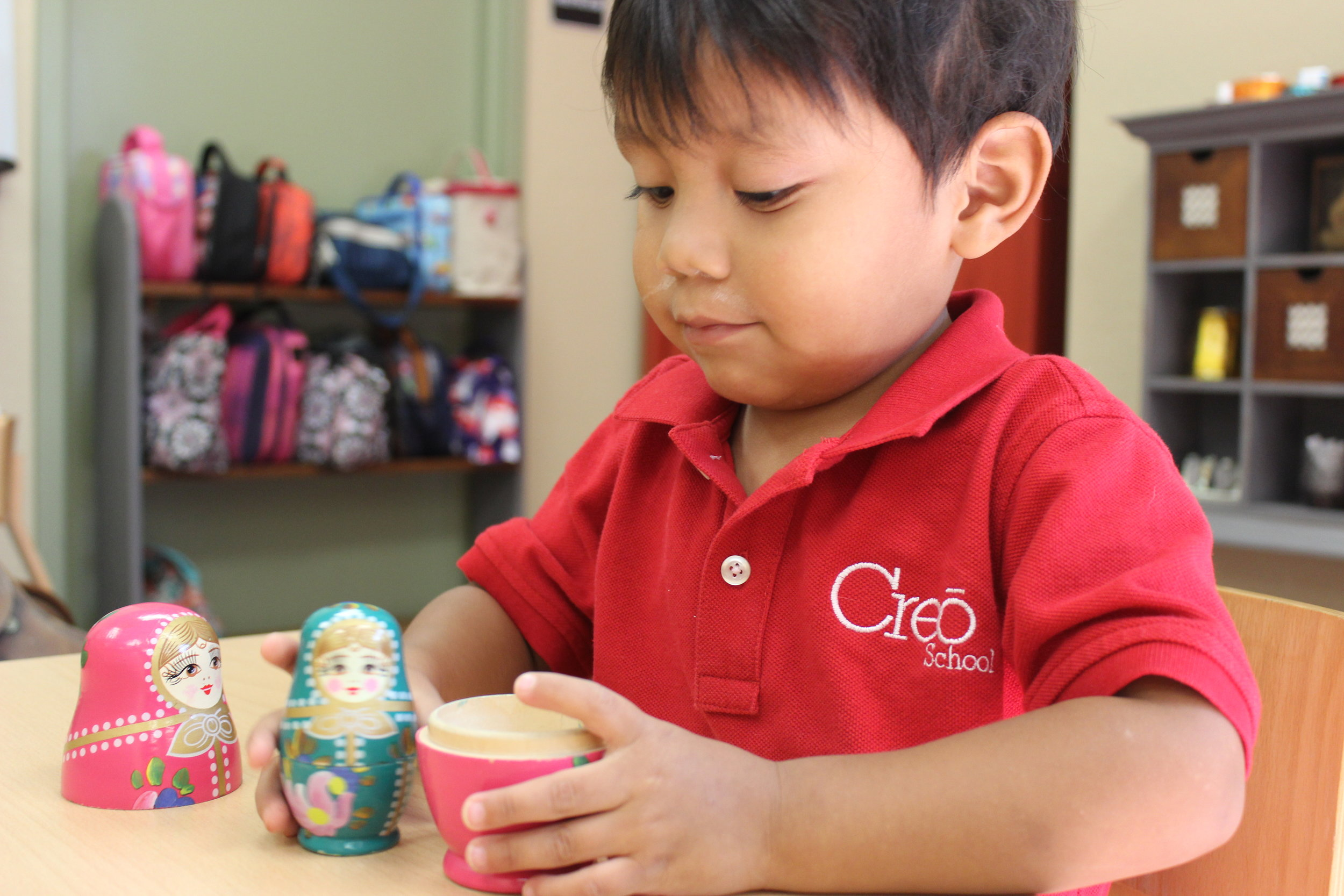 Russian Nesting Dolls are a fun way to develop concentration while learning a bit about culture.