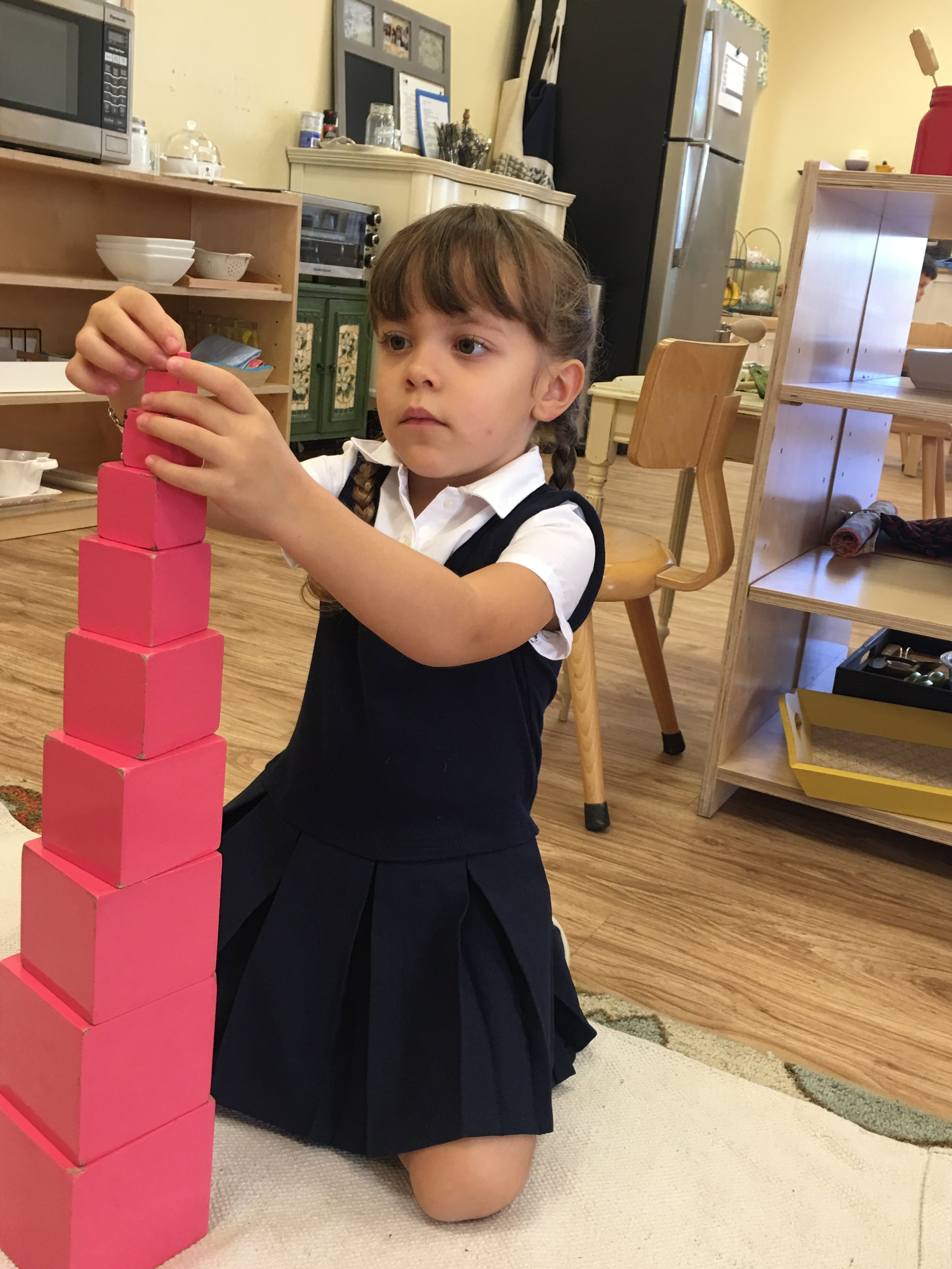 Completing the Pink Tower