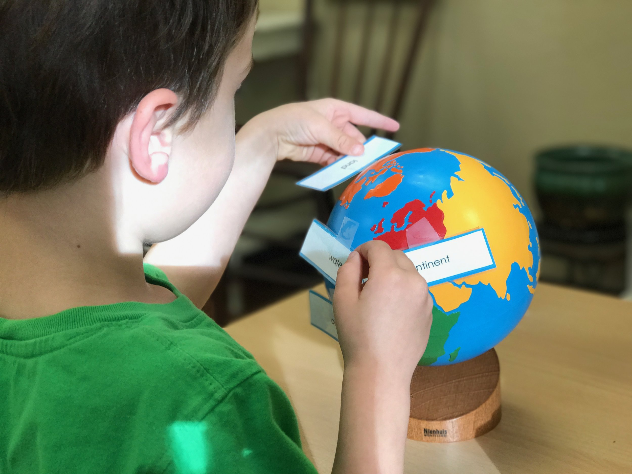 Labeling the Painted Globe
