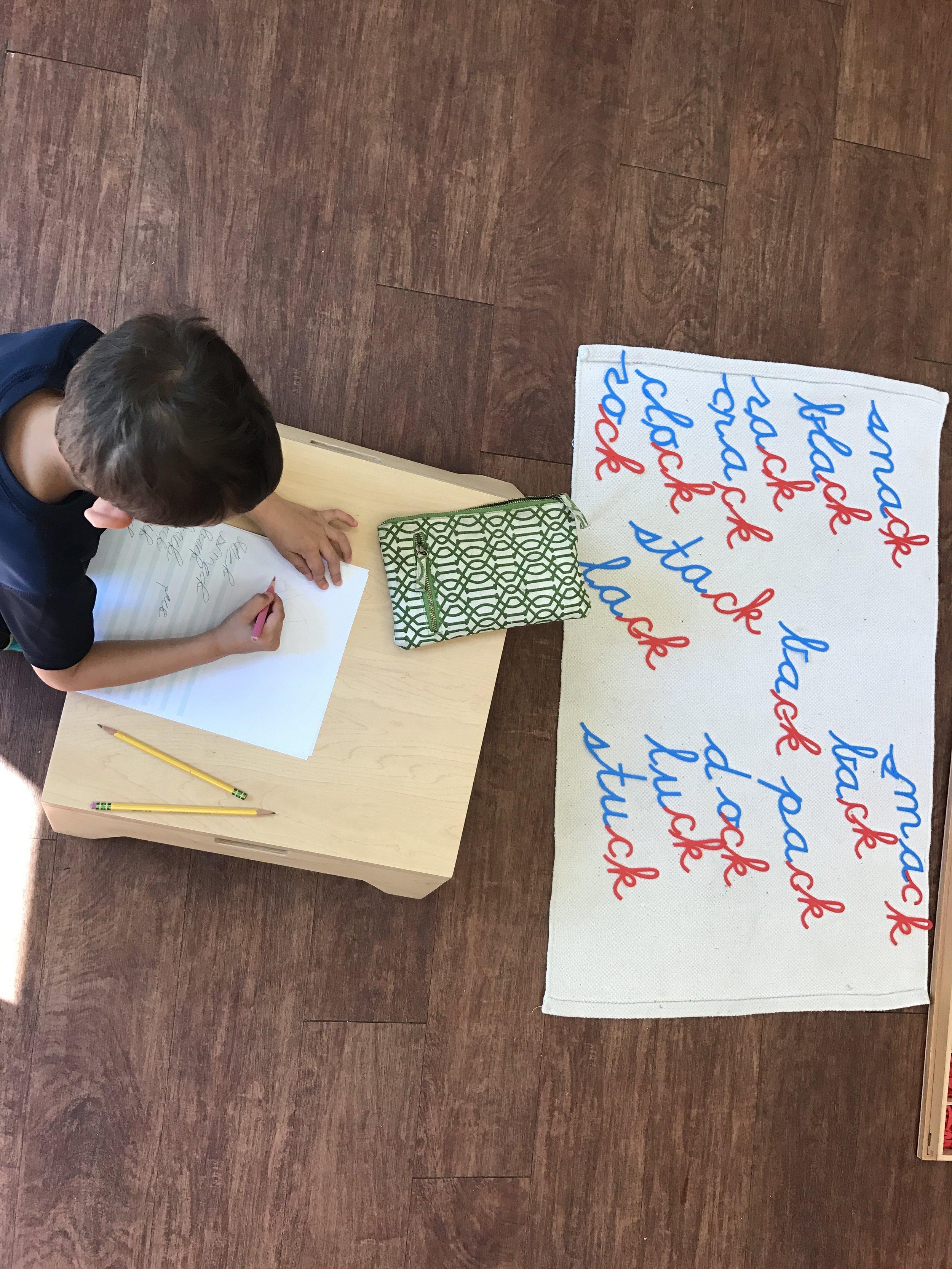 Spelling through movement