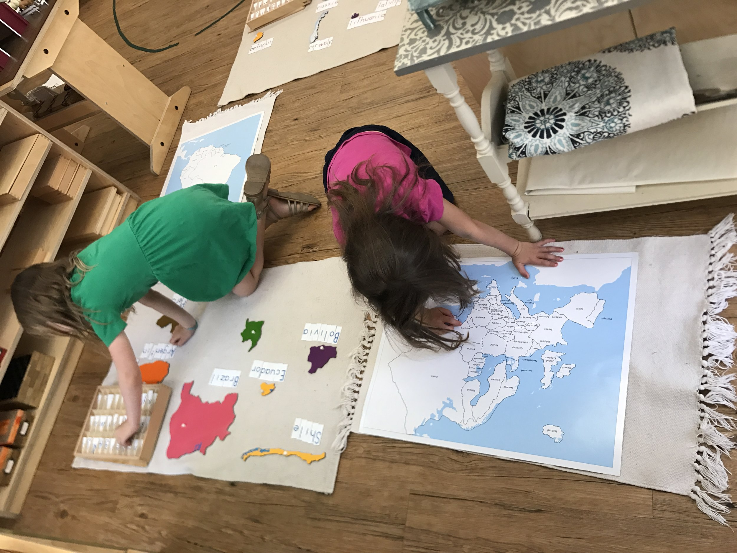 Printed Alphabets and Maps