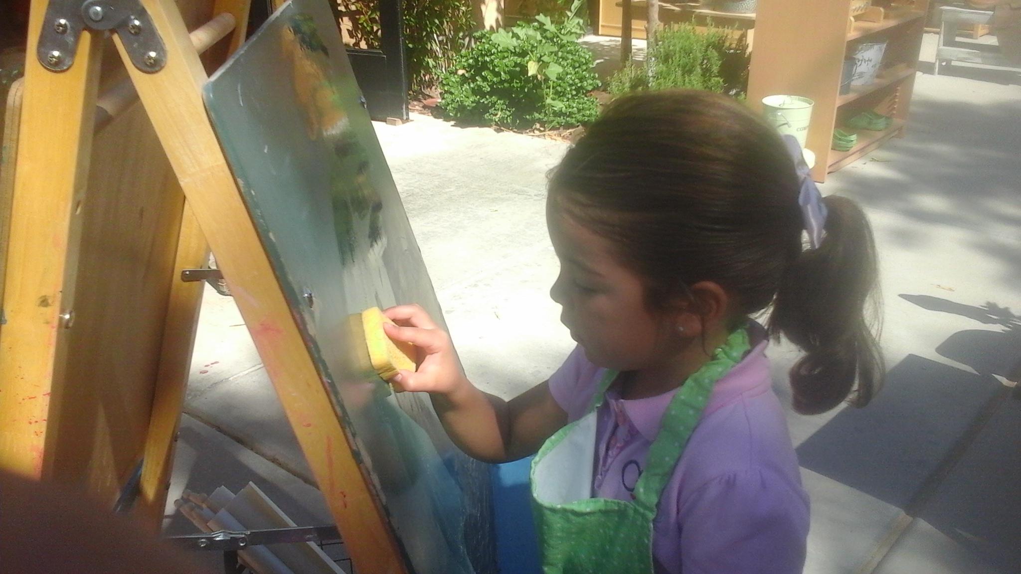 Washing a Chalkboard