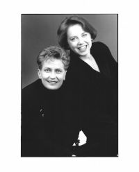 A little vintage photo of Lori and I - no glasses and no grays!