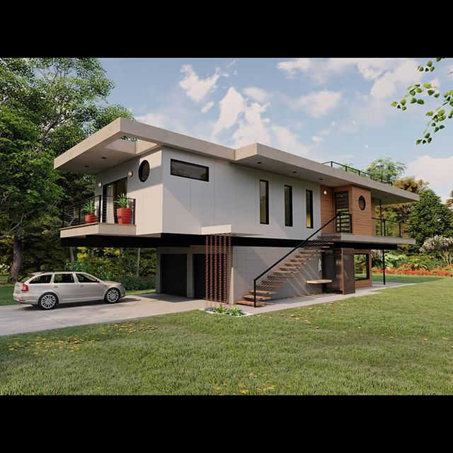 A little side project we have been helping our friend and office neighbor @blackboxdesigninc develop. Taking his architectural vision for this residence from CAD into a day/night rendering and ultimately into a 3D-printed scale model... Love getting to team up with some of our local artists and visionaries working hard to bring forward something unique. Thanks Bob! 👊💥