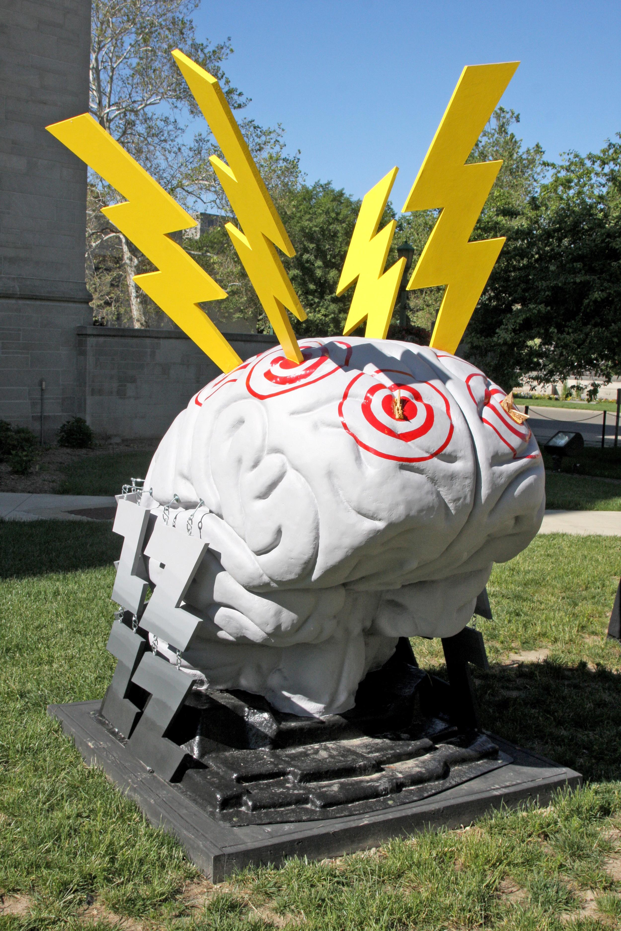 Sculpture at WFIU Public Radio . Photo credit  Scott Witzke.