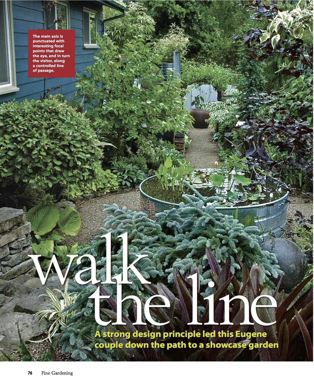 Fine Gardening Great Gardens 'Walk the Line' 2007