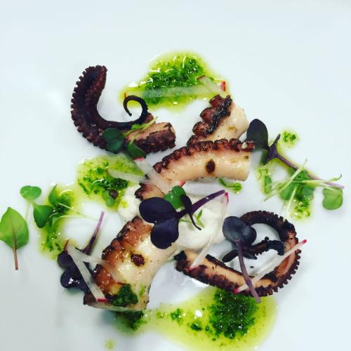 Grilled Fremantle Octopus with salsa verde