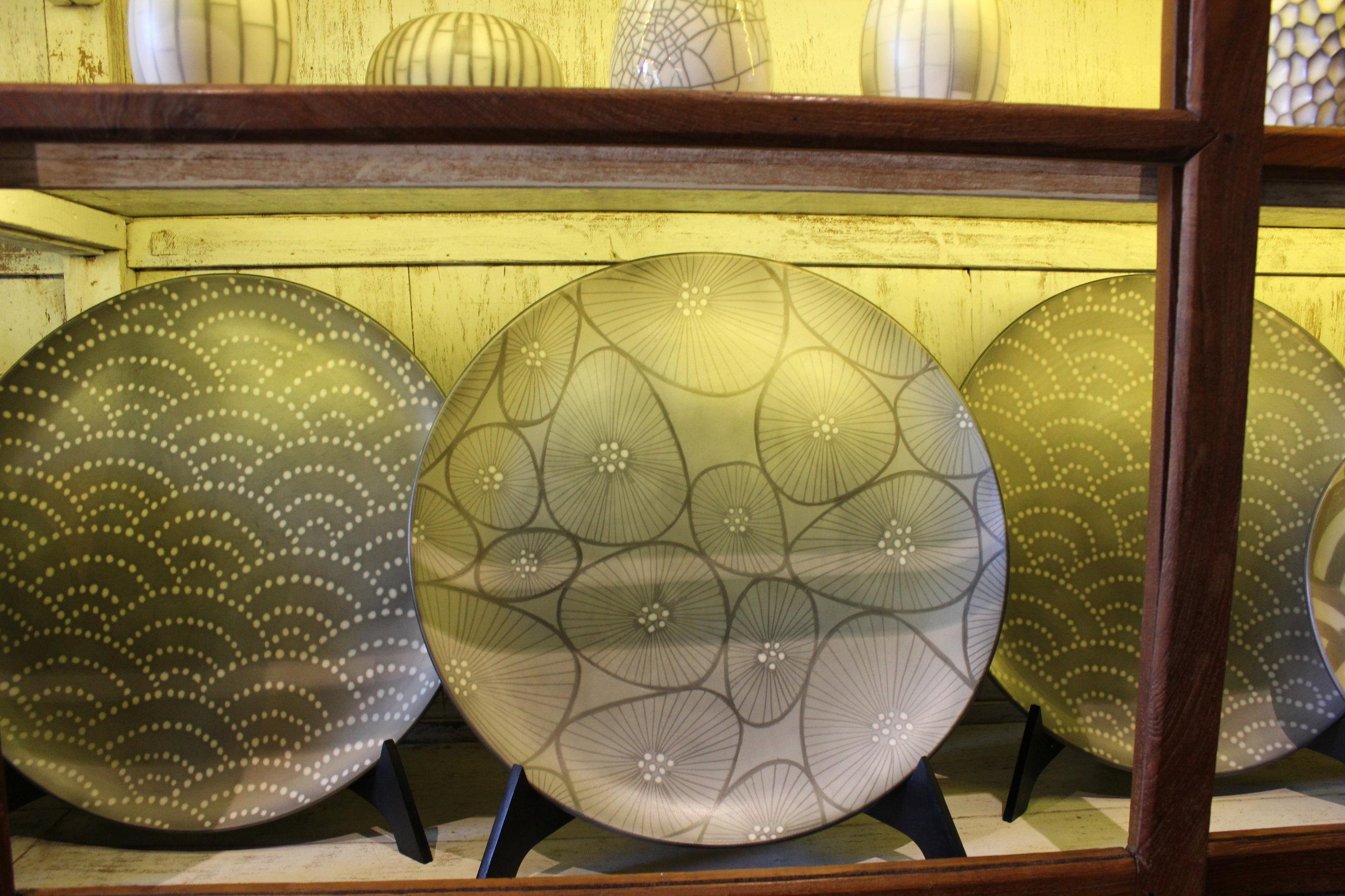 Raku plates at Gaya