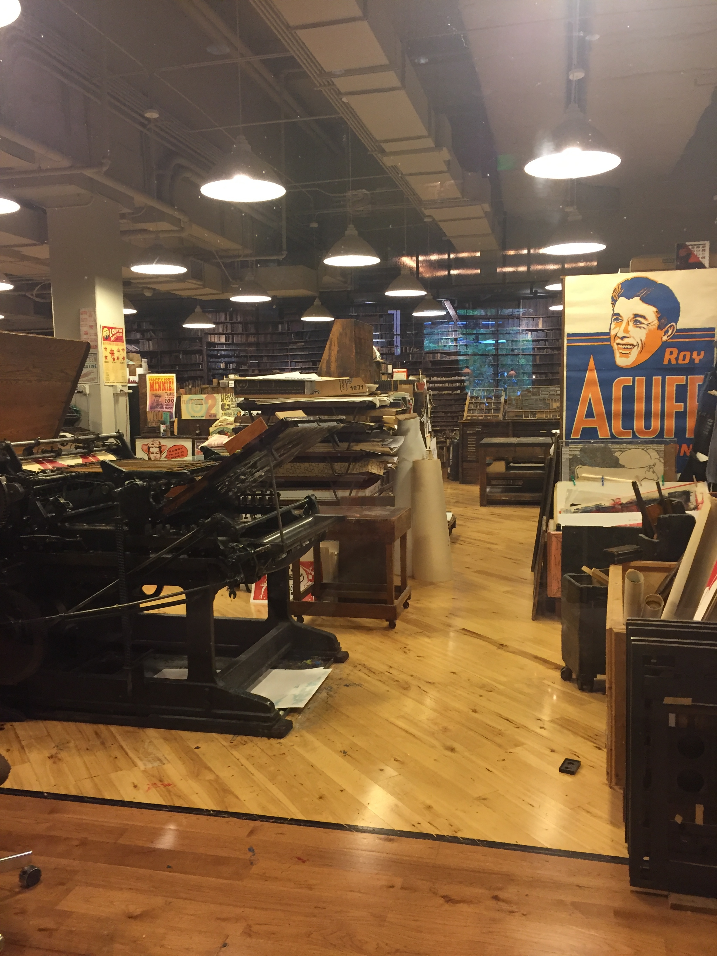 image description: A more brightly lit photo of the rest of the shop.