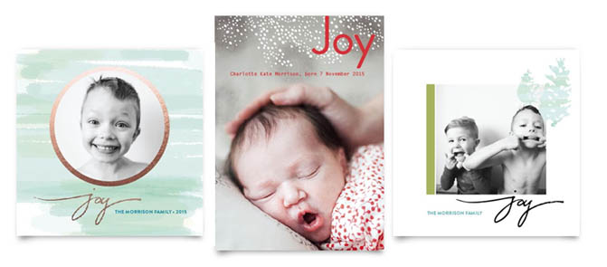 Wintery Sparkle / Holiday Joy Birth Announcement / Wintery Joy