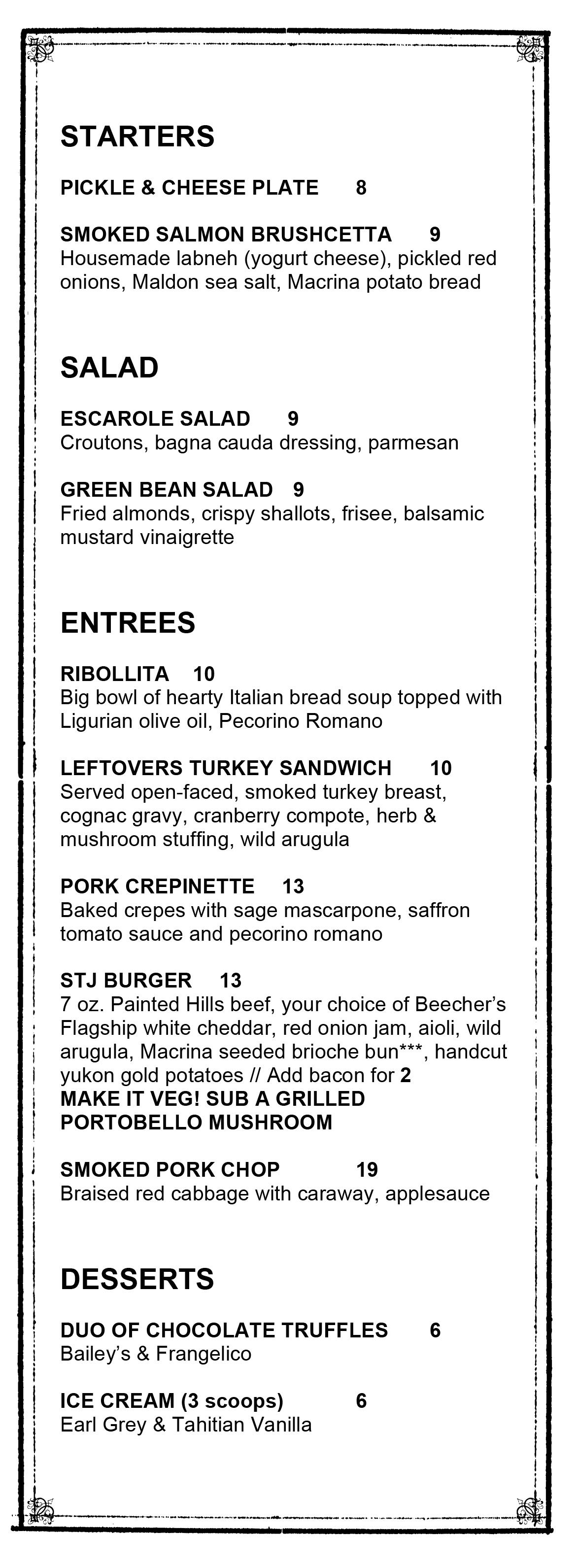thanksgiving2014 menu