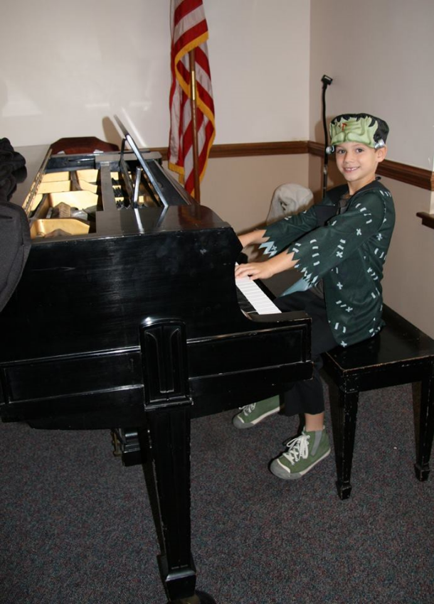 Our Halloween recital is always a fun time to dress up and share music together!